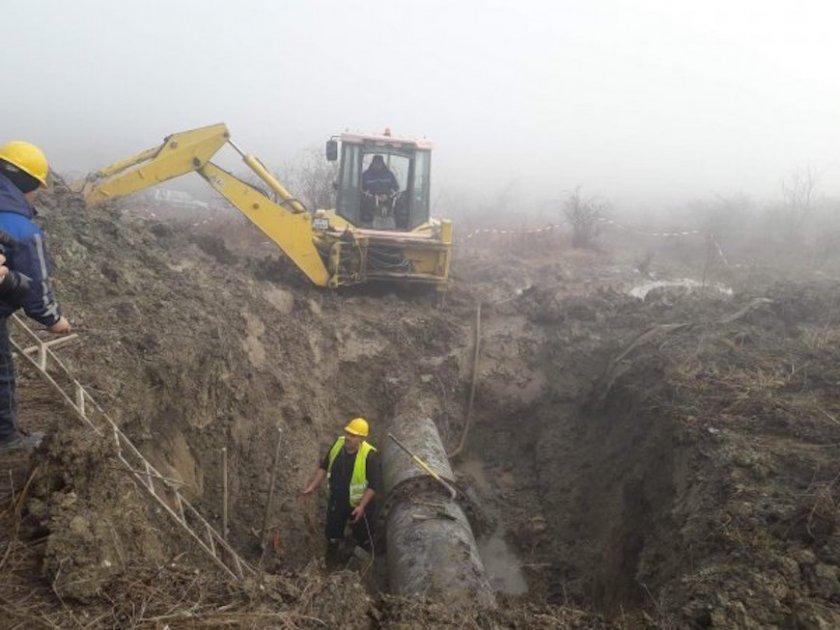 Довеждащият водопровод за Шумен и Търговище от язовир