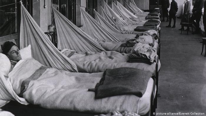 Непосредствено след края на Първата световна война пандемията