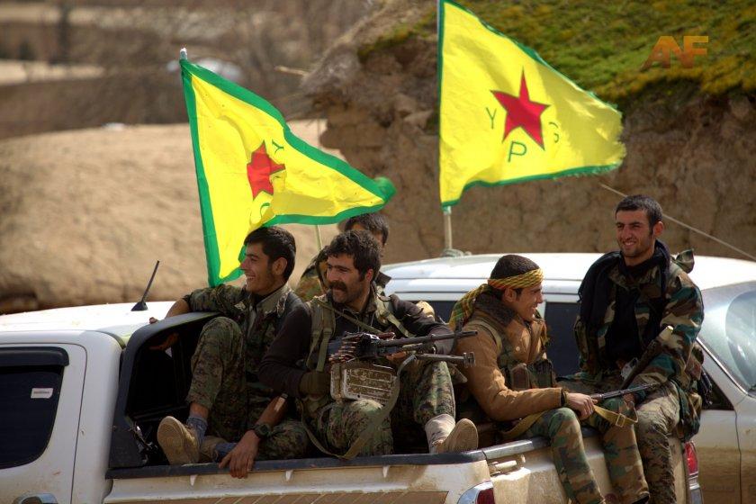 Подкрепяните от САЩ кюрдски сили в Северна Сирия
