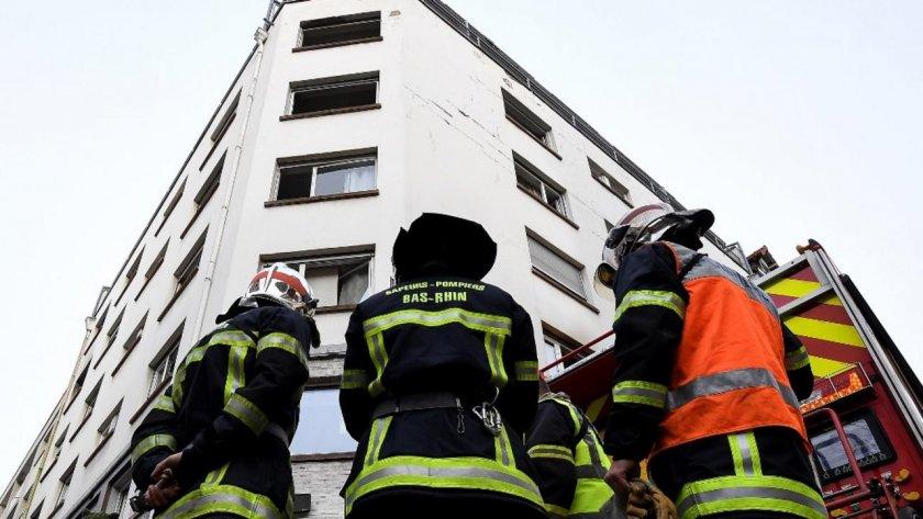 Френската полиция подозира, че вчерашниятпожар в жилищна сграда