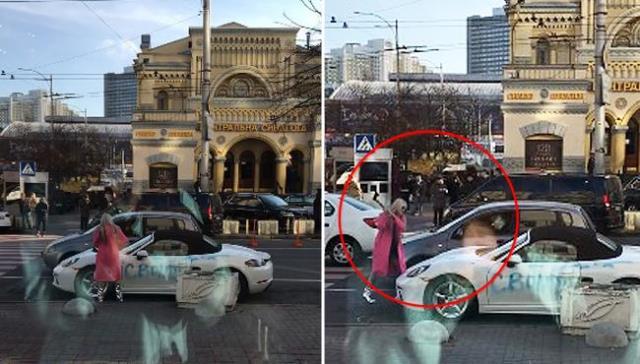 Автомобилът, който пострада отръцете на възмутената дама, се оказа модел