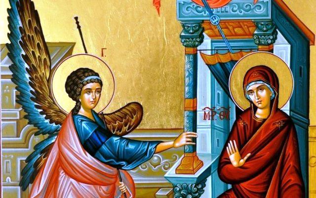 Но пресвета Дева Мария отговорила решително, че била посветена от