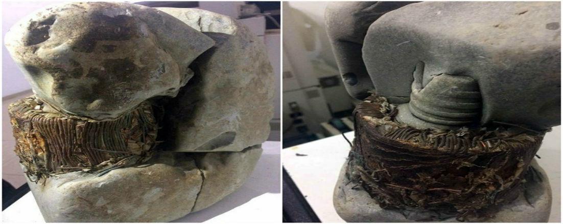 Сякаш камъкът е бил разтопен, за да му бъде придадена