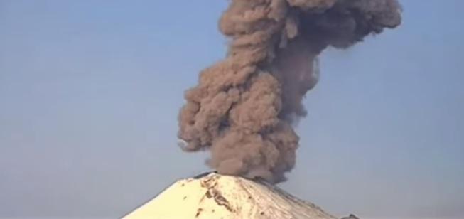 Мексиканската агенция за бедствия е засякла изригванията след полунощ в