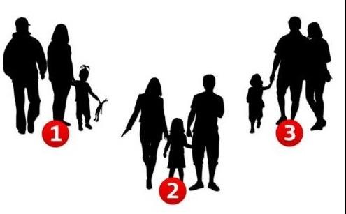 Две от картините са истинско семейство, но едната от трите