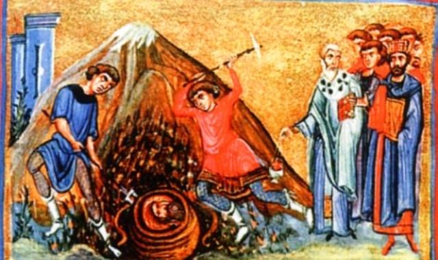 Тук свети Иоан Предтеча се явил на един от тях