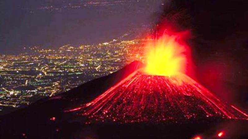 През нощтав района на вулкана Хаконе бяхарегистрирани около 45 вулканични