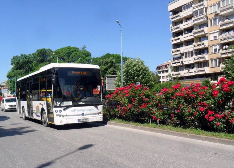 Автобусите по всички линии на масовия обществен вътрешноградски