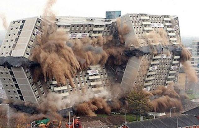 Властите информират, че сградата е билапостроена преди няколко години и