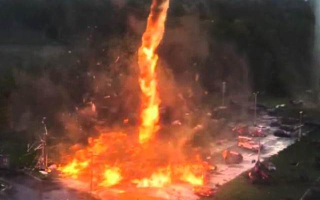 Видеото е заснето от пожарникаря Томас Роджърс в националния парк