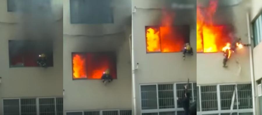Запалилото се жилище е обитавано от 44-годишен мъж. Той се