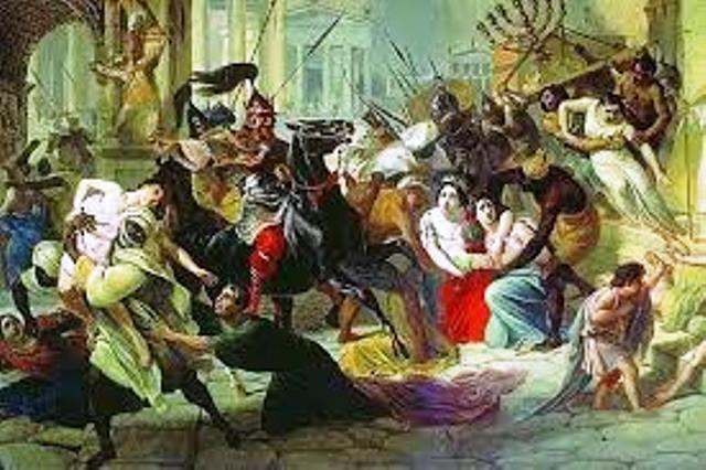 През 250-а година готите унищожили и опожарили града, избили десетки