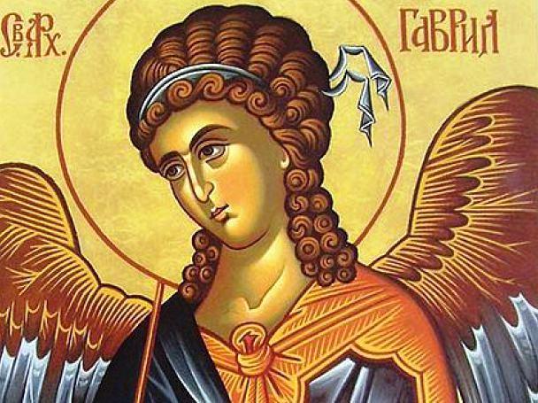 Свети арх. Гавраил пристигнал при девицата Мария. Донесъл й бял