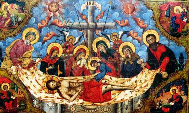 На Велика събота църквата възпоменавателесното погребение на Христос, пребиваването на