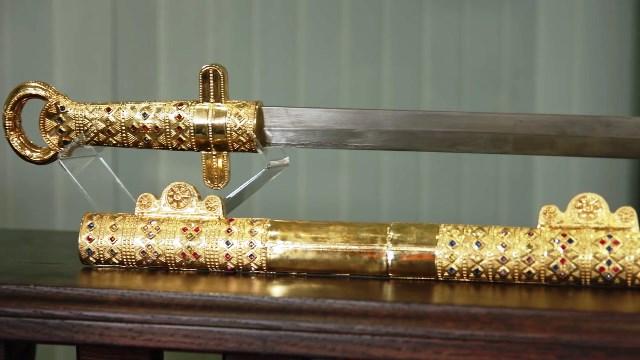Мечът и пръстенът на хан Кубрат сачаст от Перешчепинското съкровище.То