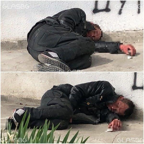 Паднална улицата мъж в ЖР
