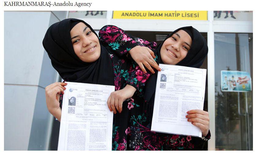 Пред Анадолската агенция Айше коментира, че двете полагат изпита, за
