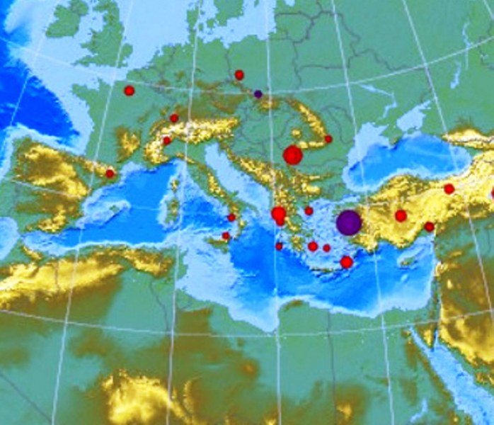 Силно земетресение с магнитуд от над 7 в