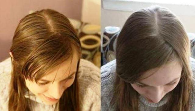 След един месец без шампоан момичето забелязва, че косата й