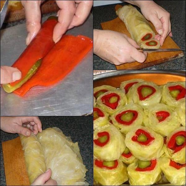 """Приготвянето на салата """"Суши"""" е елементарно. В печена чушка """"увийте"""""""