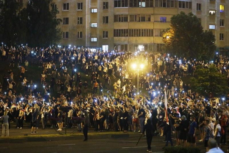Над 50 души са били задържани в Минск