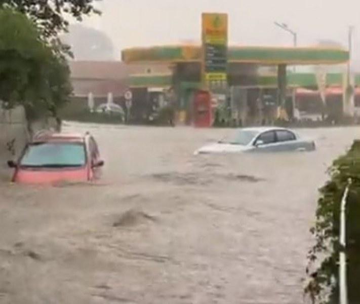 Района на гарата в Червен бряг бе потопен