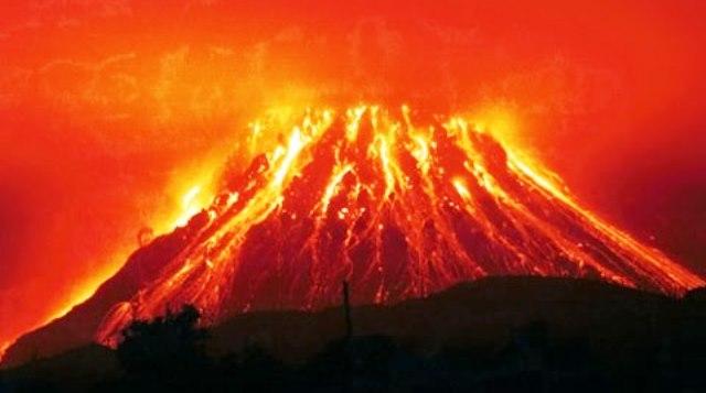 Пикът на вулканичната активност бе регистриран в средата на нощта.